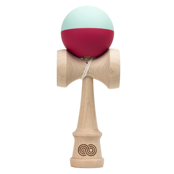 Kendama USA Kaizen 2.0 half split, maple, mint and red