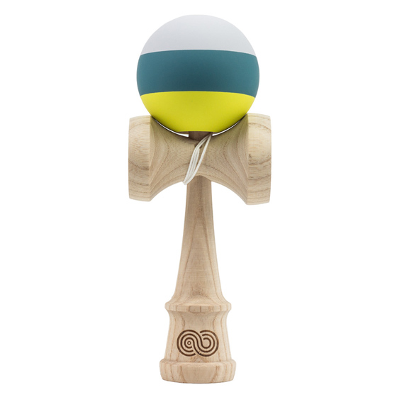 Kendama USA Kaizen 2.0 trip split ASH gray, green, yellow