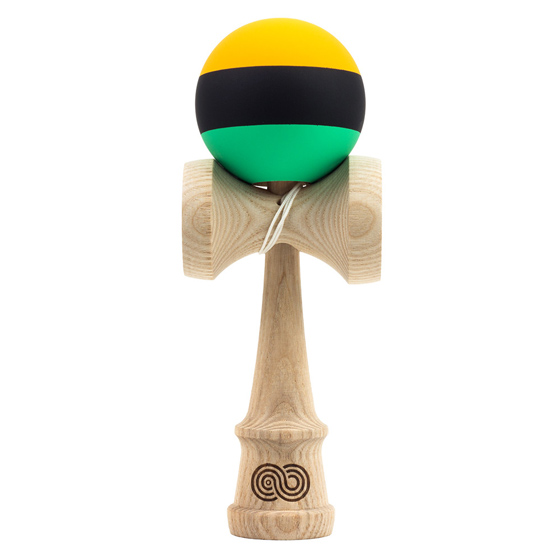 Kendama USA Kaizen 2.0 trip split ASH orange, black, green