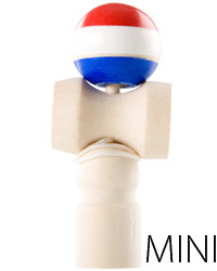 Mini Kendama - red, white, blue
