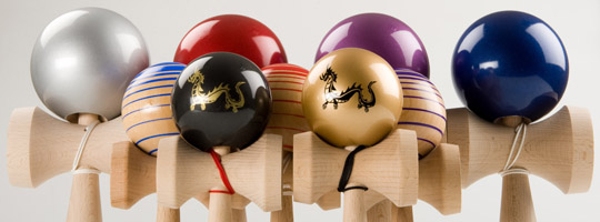 Dragon, Rokurosen and metallic performer kendama