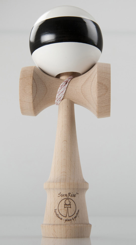 SunRise Kendama white with black stripe