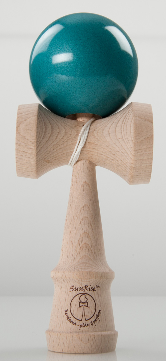 SunRise performer kendama metallic turquoise