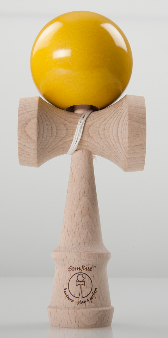 SunRise performer kendama metallic yellow