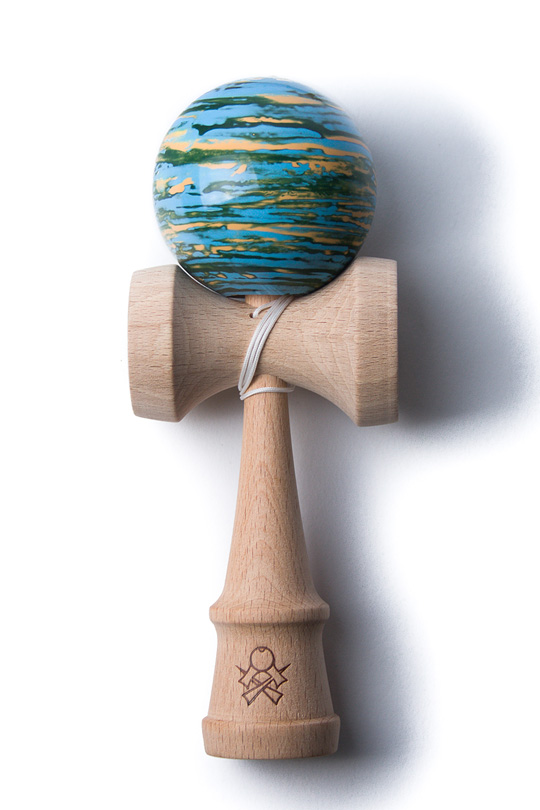 SWEETS F3 MARBLE KENDAMA BLUE, GREEN, ORANGE