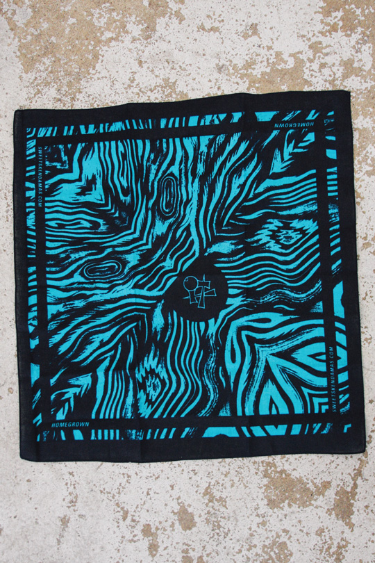 Sweets Homegrown bandana turquoise